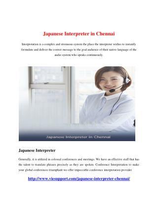 Japanese Interpreter in Chennai