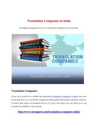 Translation Companies in India