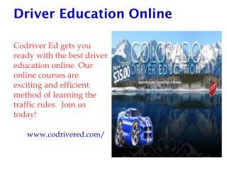 Driver Education Online