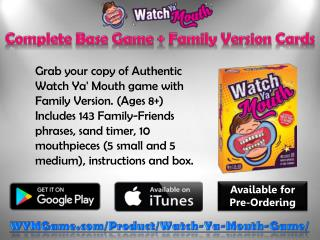 Watch Ya' Mouth – Complete Base Game   Family Version Cards