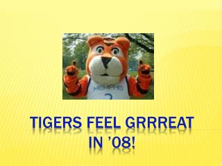 TIGERS FEEL GRRREAT  IN  08