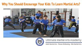 Why You Should Encourage Your Kids To Learn Martial Arts?