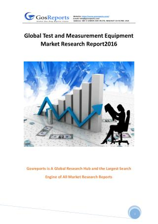 Global Test and Measurement Equipment Market Research Report 2016