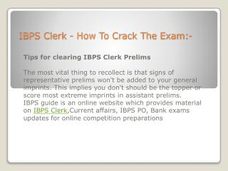 IBPS Clerk & IBPS PO Tips For Cracking Exams