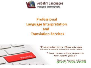 Welcome to Verbatim Languages