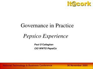 Pepsico Experience