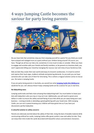 Jumping Castle Hire Melbourne�- No Limits Party Hire