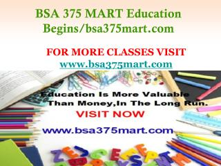BSA 375 MART Education Begins/bsa375mart.com