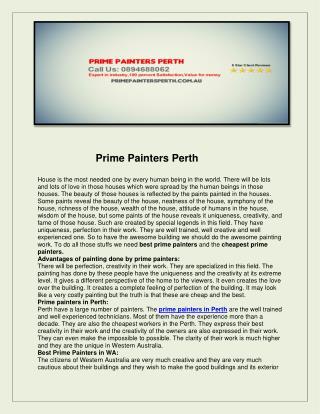 Prime painters perth
