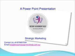 Sample PPT on Strategic Marketing