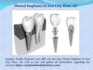 Dentures Sun City West, AZ