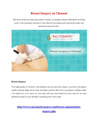 Breast Surgery in Chennai