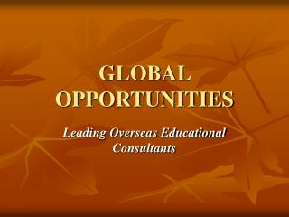 Study Abroad|Foreign Education Career Consultants|Higher Education Consultants