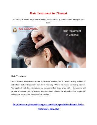 Hair Treatment in chennai