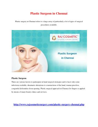 Plastic Surgeon in Chennai