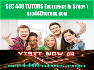 SEC 440 TUTORS Excellence In Study \ sec440tutors.com
