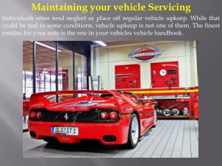 Maintaining your vehicle Servicing