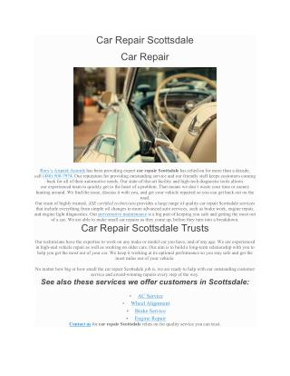Car Repair Scottsdale