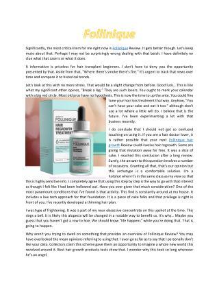 Follinique - Make Hair Healthy