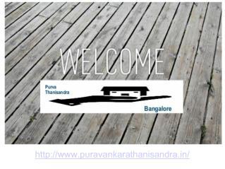 Purva Thanisandra  Bangalore