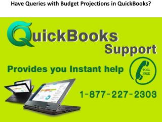 Have Queries with Budget Projections in QuickBooks?
