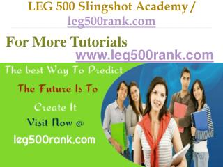 LEG 500 Slingshot Academy / leg500rank.com
