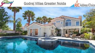 Godrej Properties New Launch Godrej Villas in Greater Noida