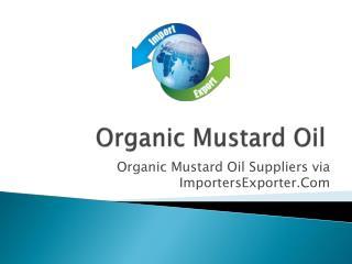 Organic Mustard Oil Exporters