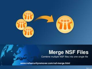NSF Merge Software
