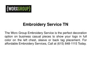 Embroidery Service TN