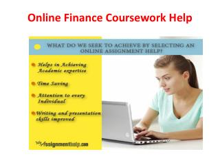 Online Finance Coursework Help by MyAssignmenthelp.com