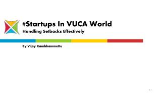 VUCA Definition & Startup Correlation - Entroids