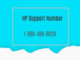 HP Technical Support Number 1-800-490-6920