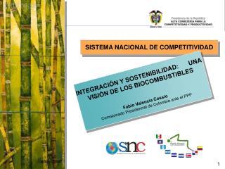 SISTEMA NACIONAL DE COMPETITIVIDAD