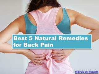 Best 5 Natural Remedies for Back Pain