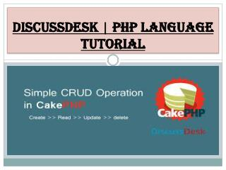 DiscussDesk | PHP Language Tutorial