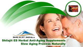 Shilajit ES Herbal Anti-Aging Supplements Slow Aging Process Naturally