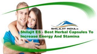 Shilajit ES - Best Herbal Capsules To Increase Energy And Stamina