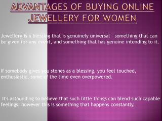 Importances of Buying Jewellery Online for Women