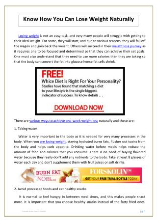 Know How You Can Lose Weight Naturally.pdf