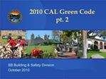 2010 CAL Green Code pt. 2