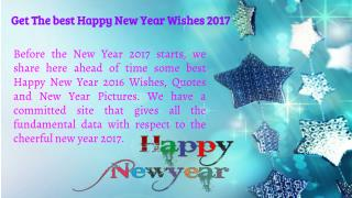 Get The Happy New Year Wishes 2017