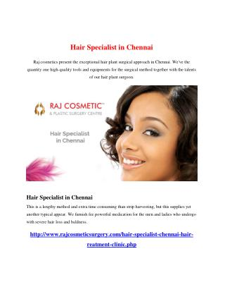 Hair Specialist in Chennai