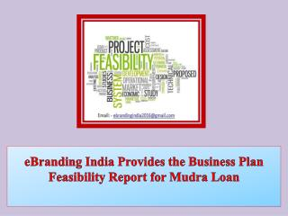 eBranding India Provides the Business Plan Feasibility Report for Mudra Loan