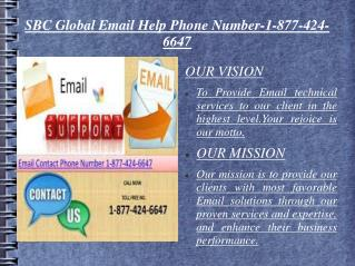 SbcGlobal Email Support toll free phone Number 1-877-424-6647 Net Support