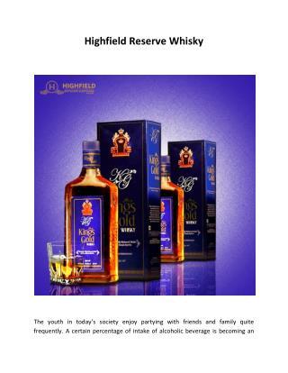 Highfield Reserve Whisky