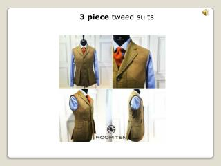3 piece tweed suits