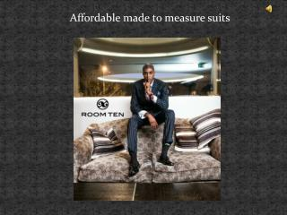 Affordable made to measure suits