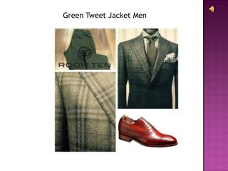 Green Tweed Jacket Men