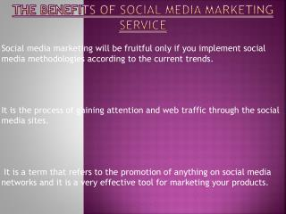 Social Media Marketing Service  Benefits